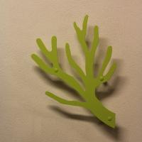 Knagerække i limegrøn