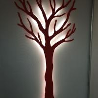 Træet-rød-med-lys