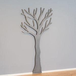 Knagerække Tøj træ i grå