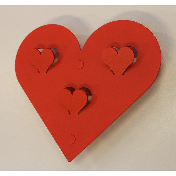 Knagerække Romantisk hjerte knag