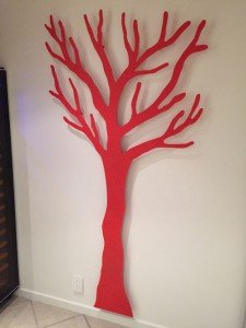 Knagerække i rød