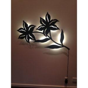 vægdekoration Blomst med LED