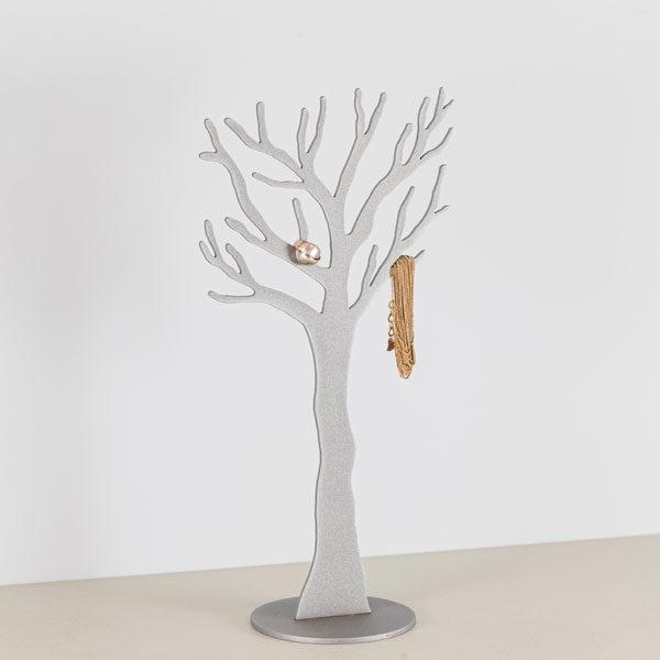 Smykke træ i grå med smykke