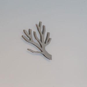 Knag grå tøjtræet kvist