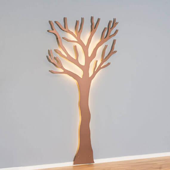 Knag kobber tøj træet med led lys