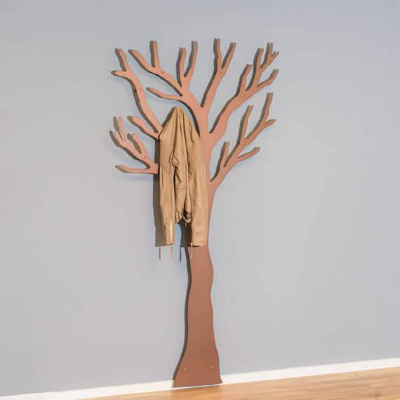 Knagerække kobber Tøj Træet med jakke