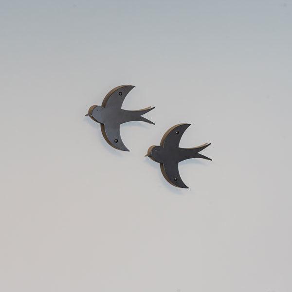vægdekoration fugle i sort