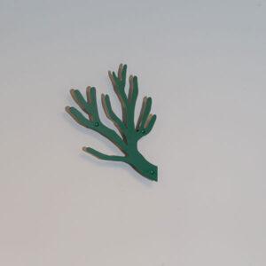Grøn knagerække i stål