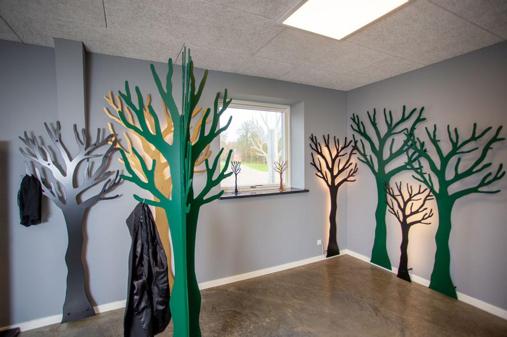 showroom træ om hjørne