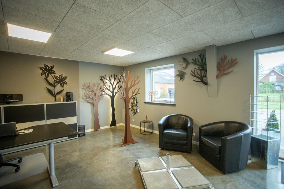 showroom kobber træ