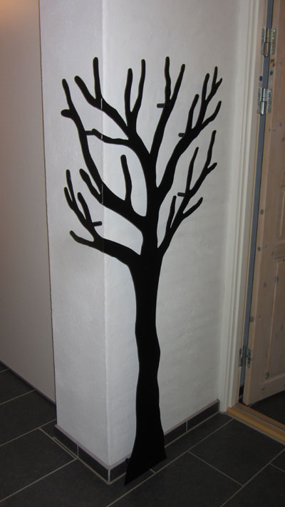 knag i træ design udvending hjørne